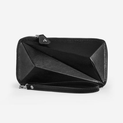 arutti london tower purse black silver